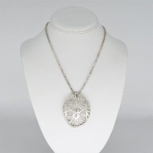 Kenneth Cole NY Floral Silver Tone Necklace